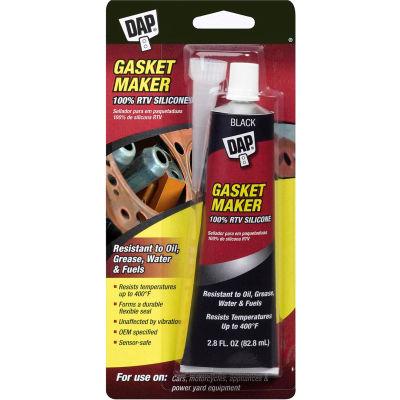 DAP® Gasket 100% RTV Silicone Rubber Sealant - 2.8 oz., Black - 7079800754 - Pkg Qty 6