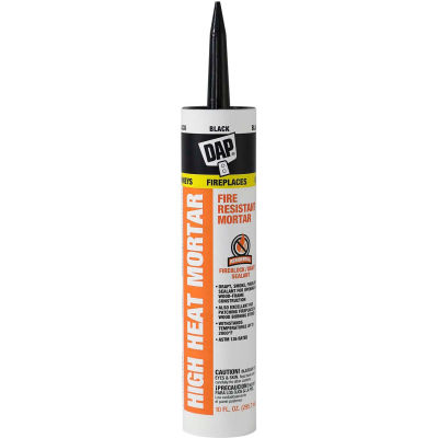 DAP® High Heat Mortar - 10.0 oz., Black - 7079818854 - Pkg Qty 12
