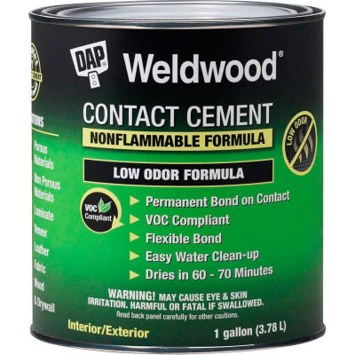 DAP® Weldwood® Nonflammable Contact Cement - 1 Gal., Natural - 7079825336 - Pkg Qty 4
