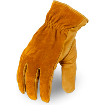 Ironclad ULD-C5-04-L Ultimate Leather 360 Cut Gloves, 1 Pair, Tan/Black/Yellow, Large