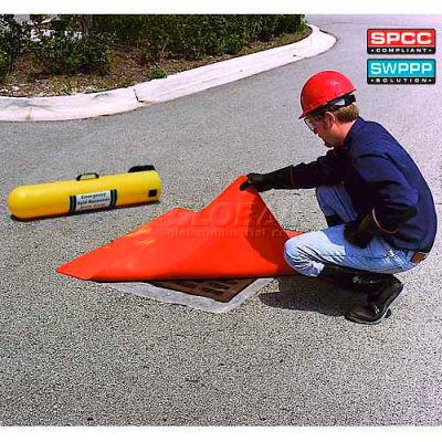 "UltraTech 2127 Ultra-Drain Seal®, Square, 24"" x 24"" x 3/8"", Orange"