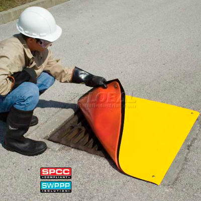 "UltraTech 2167 Ultra-Drain Seal Plus®, Square, 24"" x 24"", Orange/Yellow"