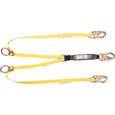 Workman® 6' Lanyard, Twin Leg, Tie Back/Snap Hook, 10072473