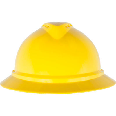 MSA V-Gard® 500 Hat Vented 6-Point Fas-Trac III, Yellow - Pkg Qty 20