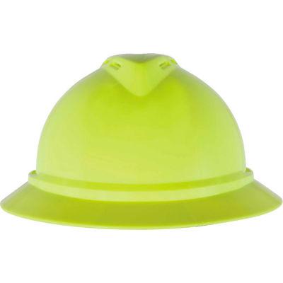 MSA V-Gard® 500 Hat Vented 6-Point Fas-Trac III, Hi-Viz Yellow-Green - Pkg Qty 20