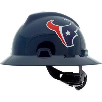 MSA Officially Licensed NFL V-Gard® Full Brim Hard Hat, Houston Texans