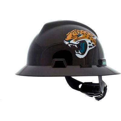 MSA Officially Licensed NFL V-Gard® Full Brim Hard Hat, Jacksonville Jaguars