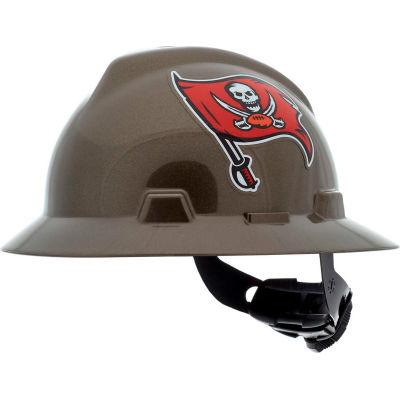 MSA Officially Licensed NFL V-Gard® Full Brim Hard Hat, Tampa Bay Buccaneers