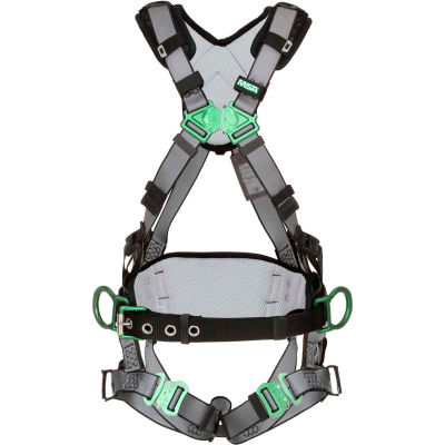 V-FIT™ 10195134 Construction Harness, Back & Hip D-Rings, Quick-Connect Leg Straps, STD