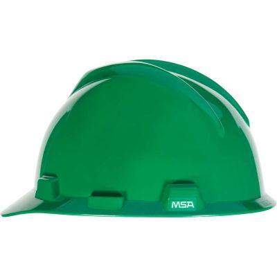 MSA V-Gard® Hard Hats, Front Brim, Fas-Trac® Suspension, Green, 475362