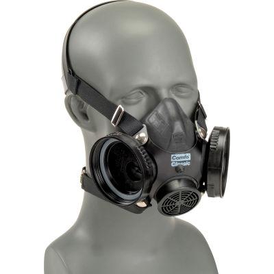 MSA Comfo Classic® Half-Mask Respirator, Small, 808075