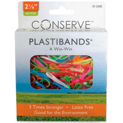 "Baumgartens® Latex Free Plastibands, 2-1/8"" Length, Assorted Colors, 200/Box"