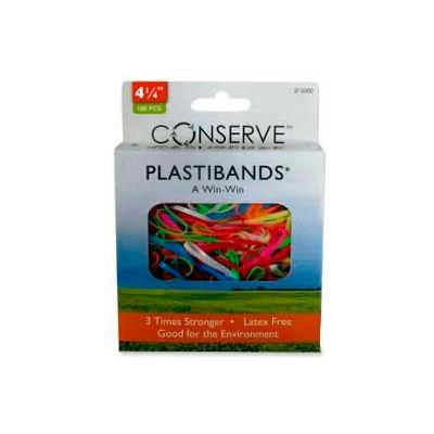"Baumgartens® Latex Free Plastibands, 4-1/4"" Length, Assorted Colors, 100/Box"