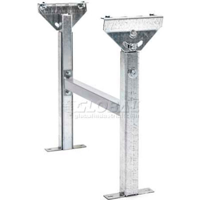 "Adjustable H-Brace Support 18""W x 15""-23""H for UNEX® MRS Roller Conveyors"