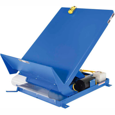 Unitilt Single Scissor Lift & Tilt Table UNI-4848-4-BLU-460-3 4000 Lb. Capacity
