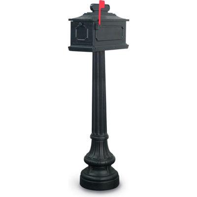 United Visual Products New Hampton Single Residential Mailbox & Post N1021775 - Black
