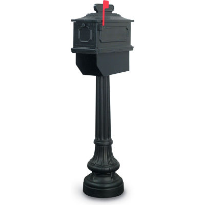 United Visual Products Newport Single Residential Mailbox & Post N1023734 - Coffee