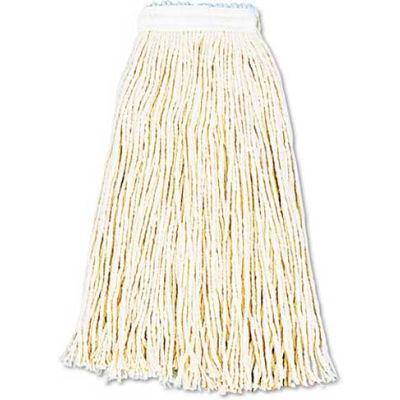16 Oz. Premium Standard Cut-End Cotton Wet Mop Head, White 12/Pack - UNS216CCT