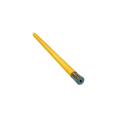 """60"""" Lie-Flat Screw-In Lacquered Wood Mop Handle, Natural - UNS834 - Pkg Qty 12"""