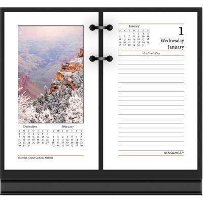 AT-A-GLANCE® Photographic Desk Calendar Refill, 3 1/2 x 6, 2021