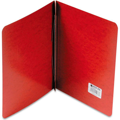 """ACCO Presstex Report Cover, Side Open, Prong Clip, Letter, 3"""" Capacity, Red"""