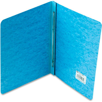 """ACCO Pressboard Report Cover, Prong Clip, Letter, 3"""" Capacity, Light Blue"""