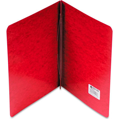 """ACCO Pressboard Report Cover, Prong Clip, Letter, 3"""" Capacity, Executive Red"""