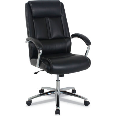 Kathy Ireland™ by Alera® Leather Executive Chair, High Back, Black - Stonebriar Series