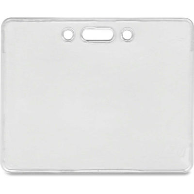 "Advantus® Proximity ID Badge Holder, Horizontal, 3-3/8"" x 2-3/8"", Clear, 50/Pack"