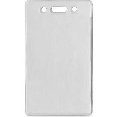 "Advantus® Proximity ID Badge Holder, Vertical, 2-3/8"" x 3-3/8"", Clear, 50/Pack"