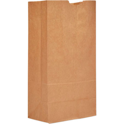 "Extra Heavy Duty Paper Grocery Bags #20, 8-1/4""W x 5-5/16""D x 16-1/8""H, Kraft, 500 Pack"