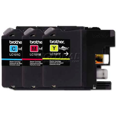 Brother® LC1013PKS, LC1013PKS Ink, 300 Page-Yield, Cyan, Magenta, Yellow, 3/Pk