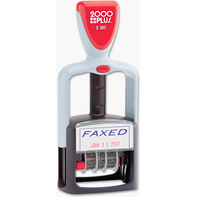 """2000 PLUS® Two-Color Word Dater, 1 3/4 x 1, """"Faxed,"""" Self-Inking"""
