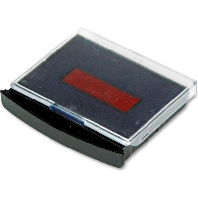COSCO Replacement Ink Pad for 2000 PLUS Two-Color Word Daters, Blue/Red