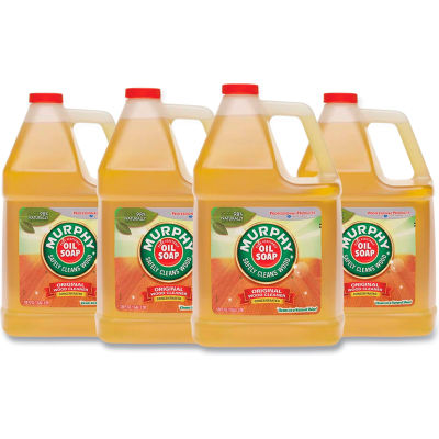 Murphy Oil Soap Original Wood Cleaner, Fresh, Gallon Bottle, 4 Bottles - 01103