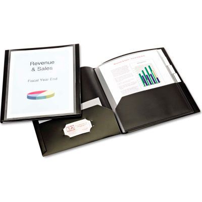 Cardinal® ReportPro 10-Pocket Project Organizer, Letter, Black