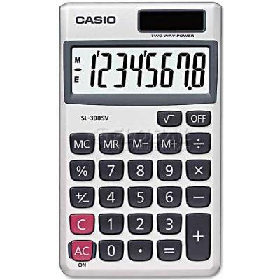 Casio® SL-300SV Handheld Calculator, 8-Digit LCD