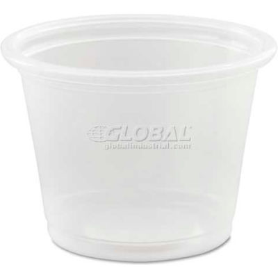 Dart® Conex Polypropylene Portion Container, Translucent, 1 Oz., 125/Bag; 20/Bags Carton