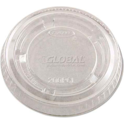 Dart® DCC200PCL, Portion Cup Lids, Fits 1-1/2-2 oz. Cups, Plastic, Clear, 2500/Carton