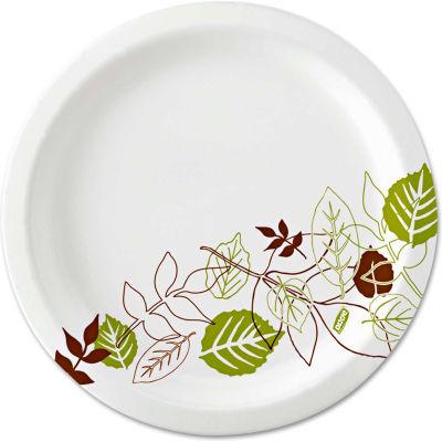 """Dixie® SXP10PATH, Pathways Paper Plates, 10-1/8"""" Dia., Green/Burg/Wht, 500/Carton"""