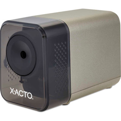 "X-ACTO® XLR Office Electric Pencil Sharpener, AC-Powered, 3"" x 5.5"" x 4"", Putty"