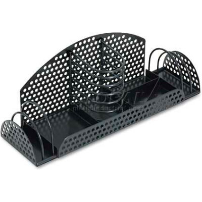 Fellowes® FEL22326 Perf-Ect Multi Desk Organizer,Metal/Wire,12 7/8 x 4 x 4 3/4,Black - Pkg Qty 2