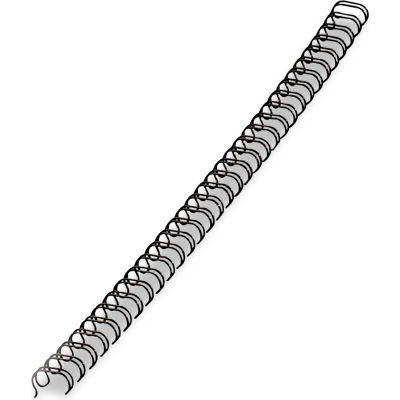 """Fellowes® Wire Bindings, 5/16"""" Diameter, 50 Sheet Capacity, Black, 25/Pack"""