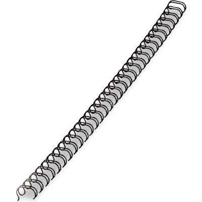 """Fellowes® Wire Bindings, 1/2"""" Diameter, 100 Sheet Capacity, Black, 25/Pack"""