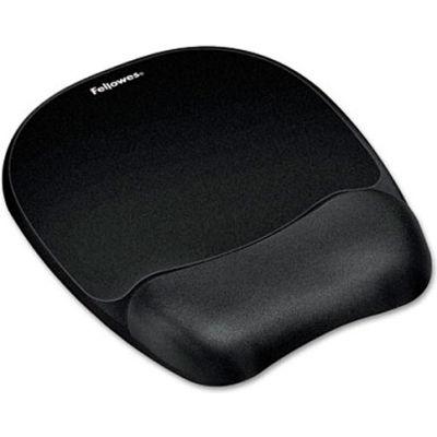 Fellowes® 9176501 Memory Foam Mouse Pad/Wrist Rest, Black