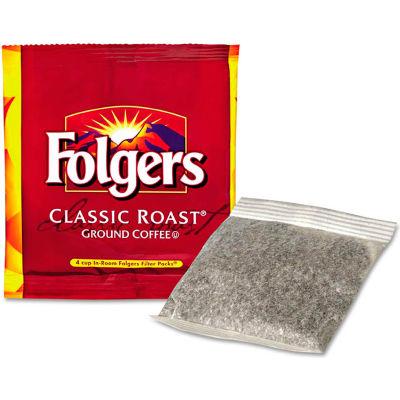 Folgers® Coffee Filter Packs, Regular, In-Room Lodging, .6oz, 200/Carton