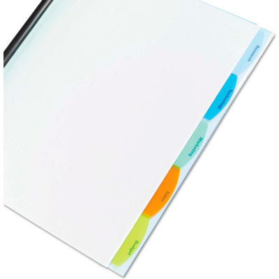 GBC® Polypropylene View-Tab Report Cover, Binding Bar, Letter, Holds 40 Pages, Clear