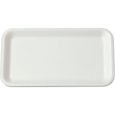 "Supermarket Trays 4-3/4"" x 8-1/4"" White - 500 Pack"