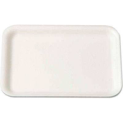 "Supermarket Trays 8-1/4"" x 5-3/4"" White - 500 Pack"