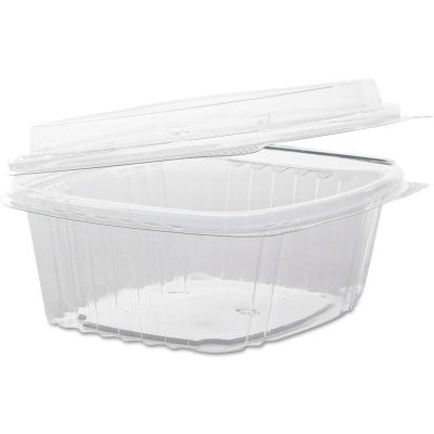 "Hinged Lid Plastic Containers 4-1/2"" x 5-3/8"" x 2-7/8"" 12 Oz - 200 Pack"